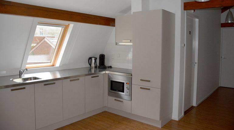 Veerstraat single room kitchen - Short Stay Wageningen